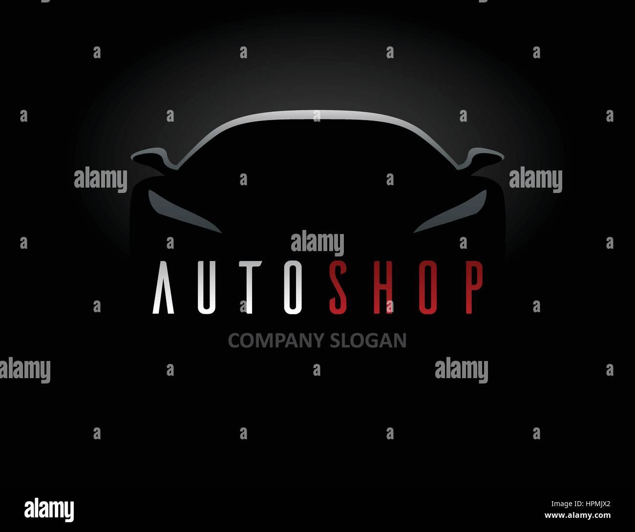 Auto Shop Auto Logo-Design mit Konzept Sport Fahrzeug Symbol ...