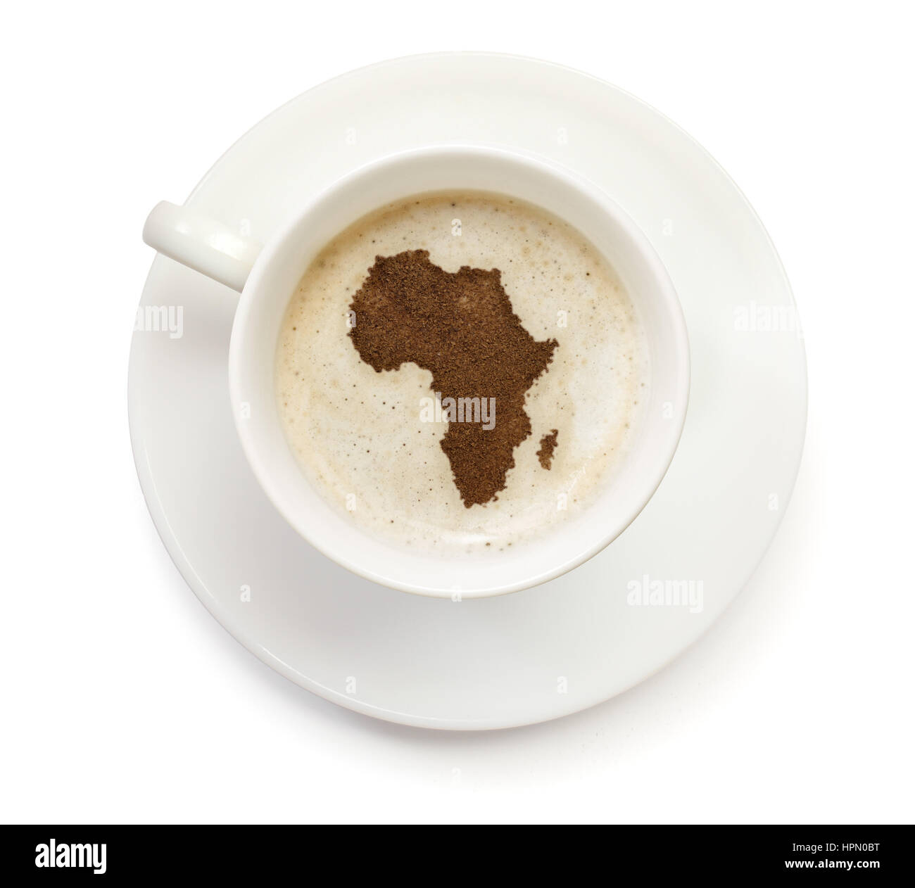 Outline Map Africa Continent In Stockfotos & Outline Map Africa ...