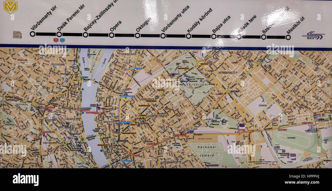 Metro Karte Budapest.Budapest Metro 1 Stockfotos Budapest Metro 1 Bilder Alamy