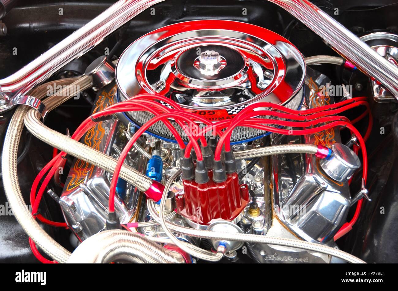 Hohe Leistung auto motor Teile Stockfoto, Bild: 134571514 - Alamy