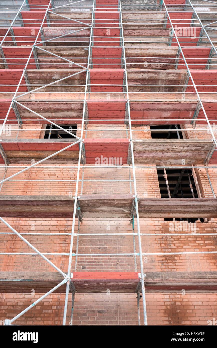 gerüste am historischen mauer bauen derzeit unter sanierung