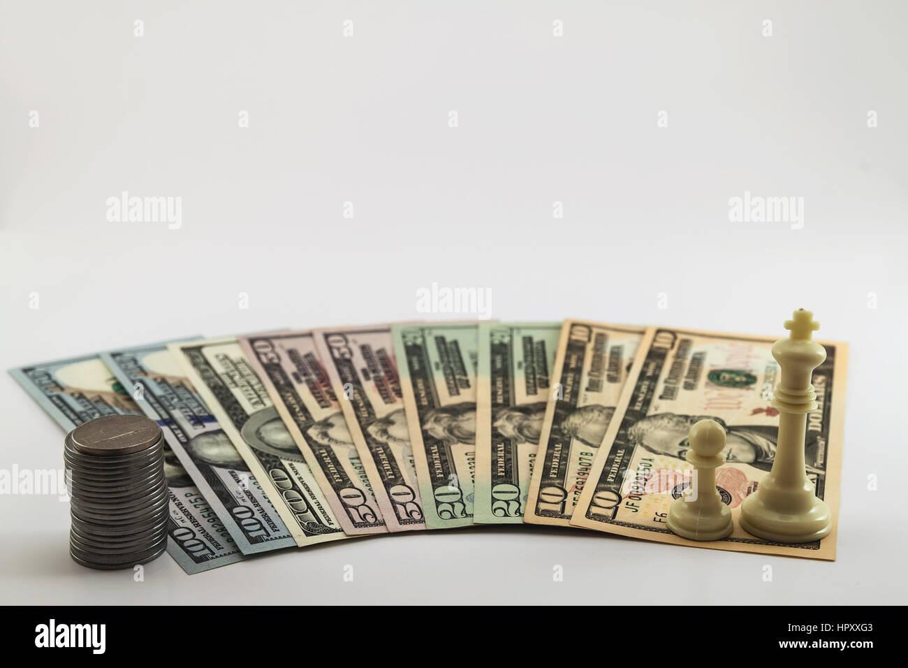 Us Amerikanische Dollar Geld Scheine Und Münzen Cents Zu Verbreiten