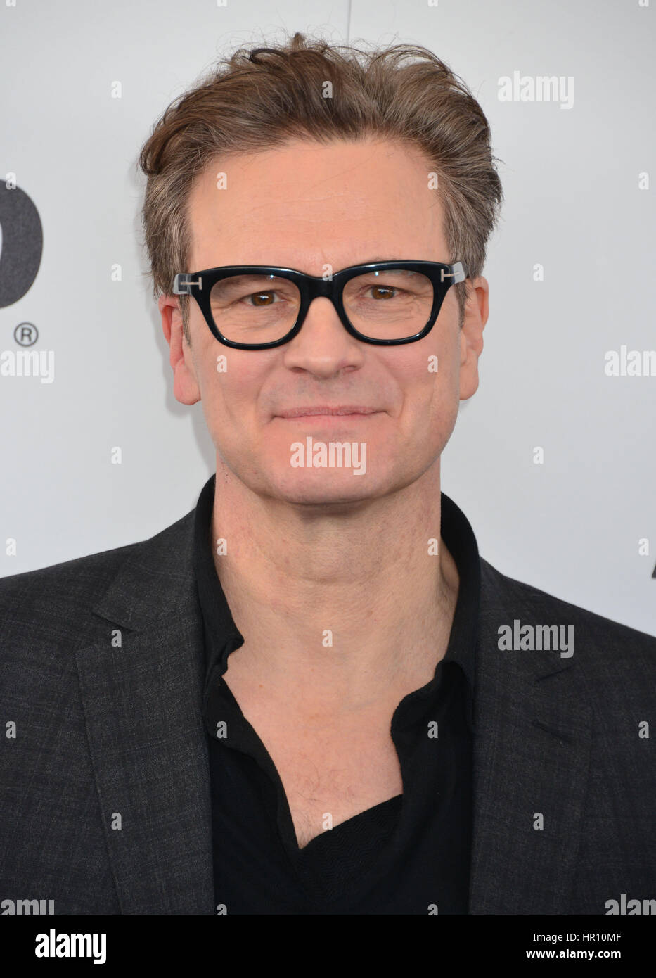 Santa Monica Beach, Kalifornien, USA. 25. Februar 2017. Colin Firth 247 angekommen 2017 Film Independent Spirit Stockbild