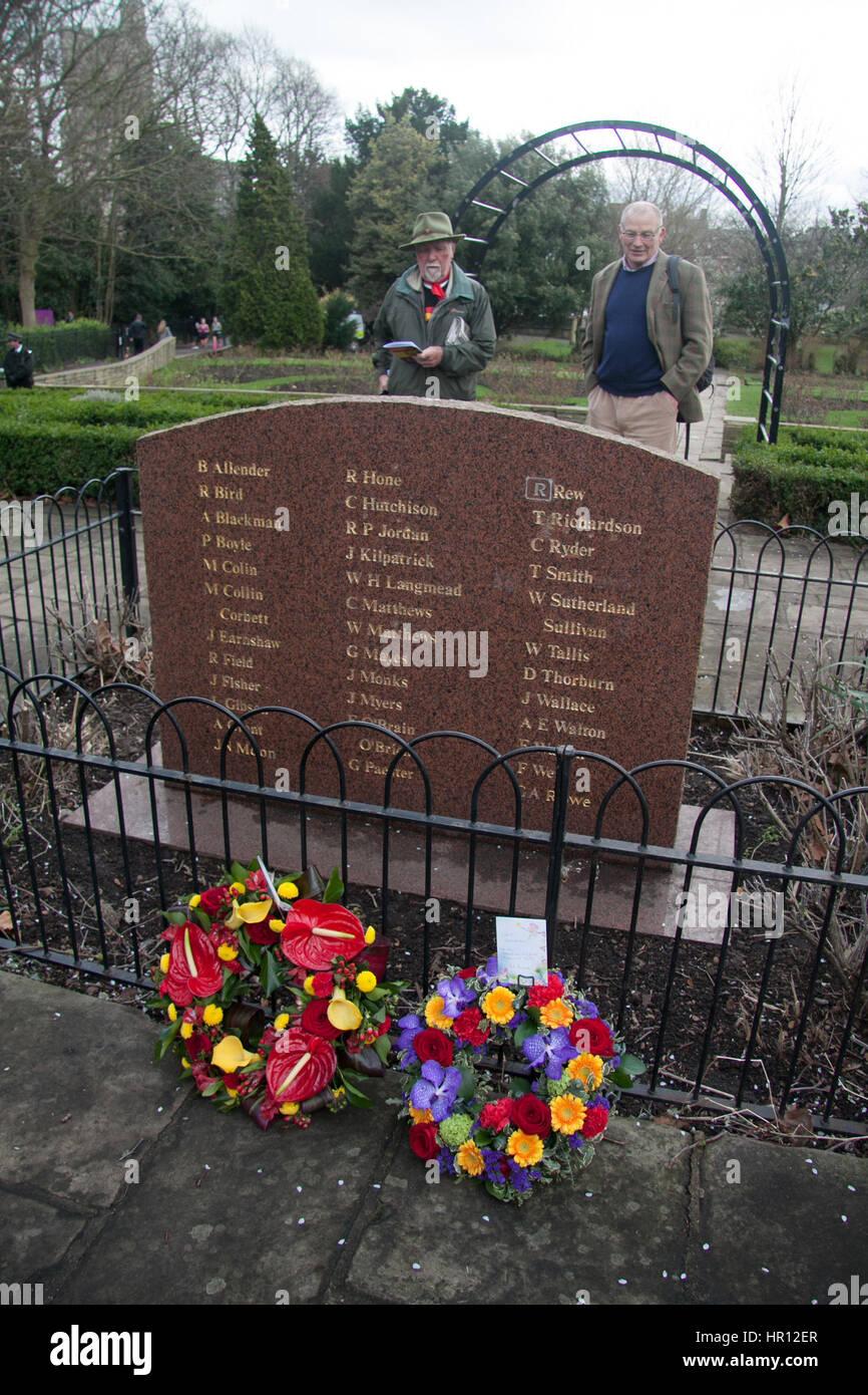 London, UK. 26. Februar 2017. Ein Service der Gedenkfeier des Bischofs Park in Fulham, einschließlich eine Stockbild