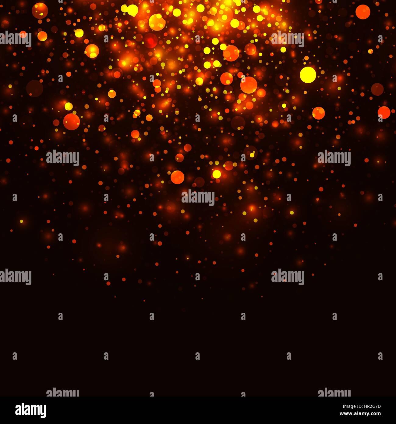 Vektor-leuchtende Licht Glitzer Goldgrund. Weihnachten goldenen ...
