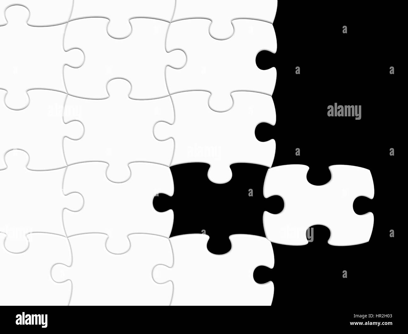 missing black puzzle piece stockfotos missing black. Black Bedroom Furniture Sets. Home Design Ideas