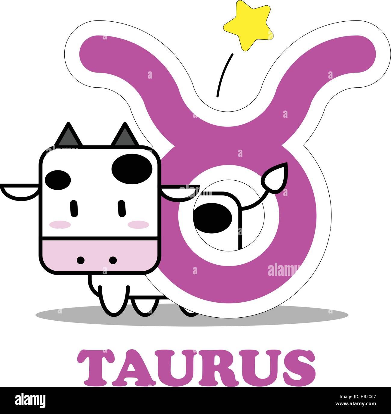 Symbol Taurus Zodiac Sign Vector Stockfotos & Symbol Taurus Zodiac ...