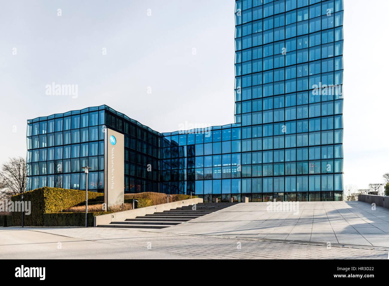 Süddeutscher Verlag - Gebäude, München, Deutschland Stockbild