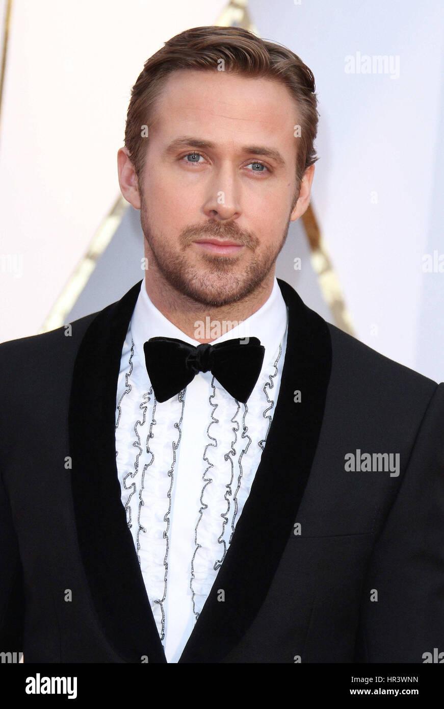 26. Februar 2017 - Hollywood, CA - Ryan Gosling. 89. annual Academy Awards, präsentiert von der Academy of Motion Stockfoto