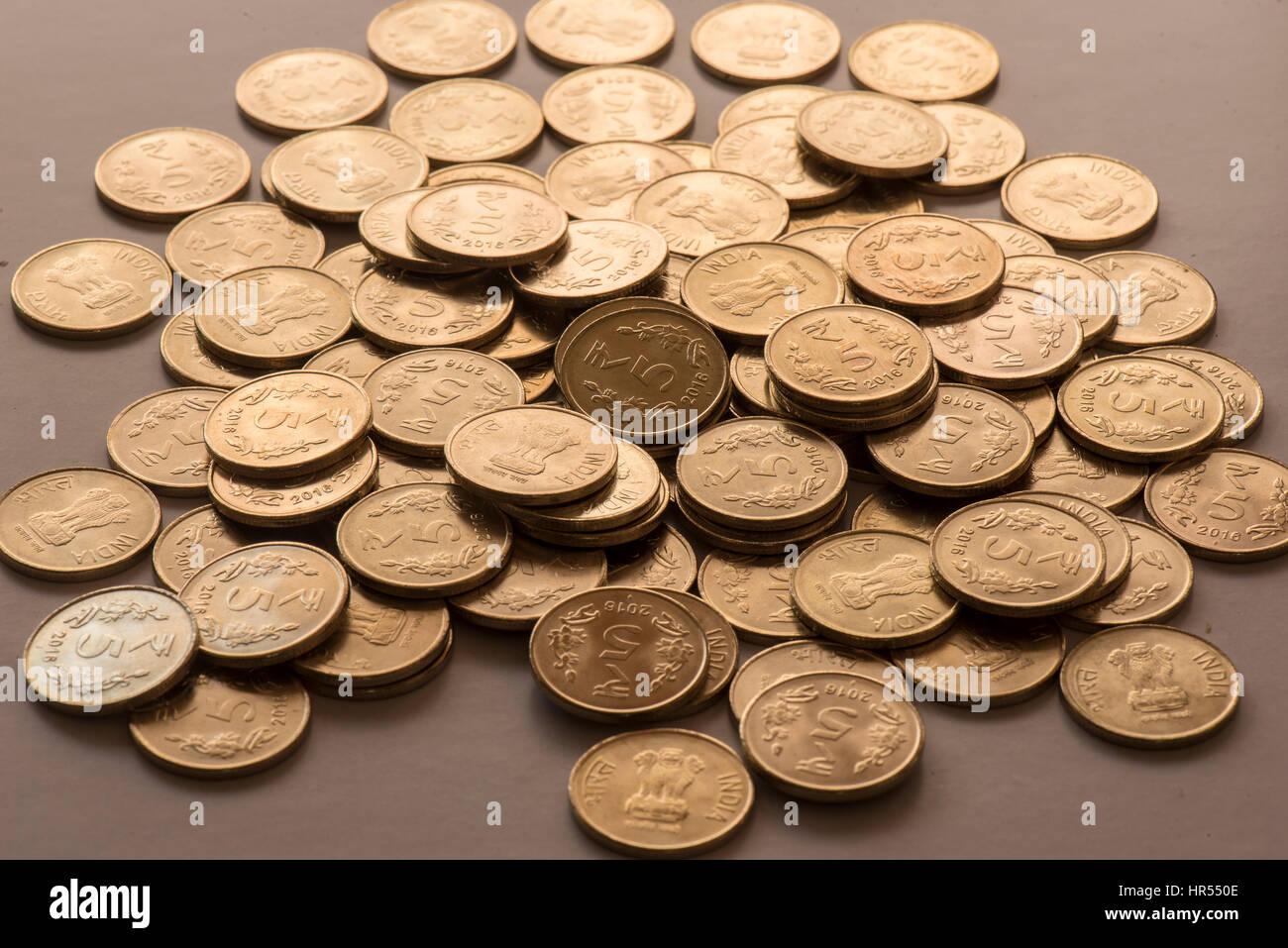 Indische Münzen Stockfoto Bild 134723358 Alamy