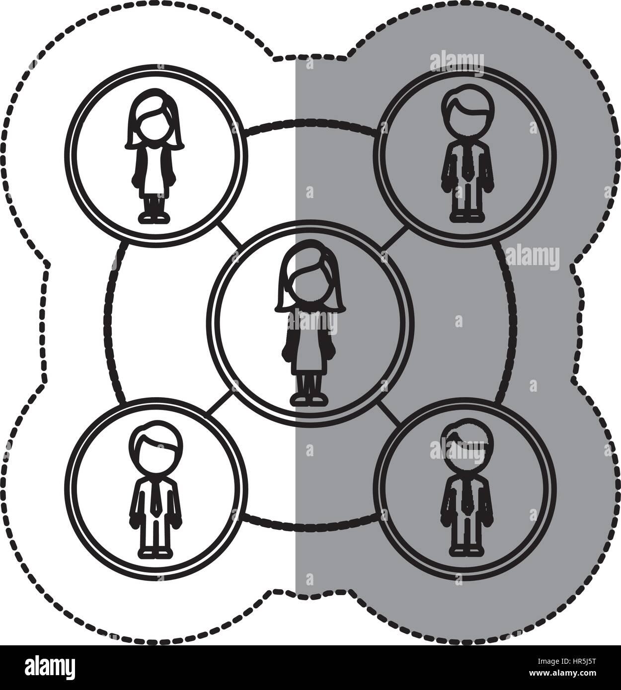 People Network Team Icon Vector Stockfotos & People Network Team ...