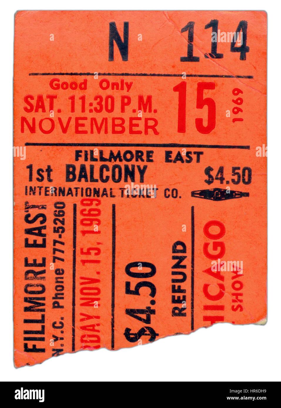 Concert Ticket Stub Stockfotos & Concert Ticket Stub Bilder - Alamy