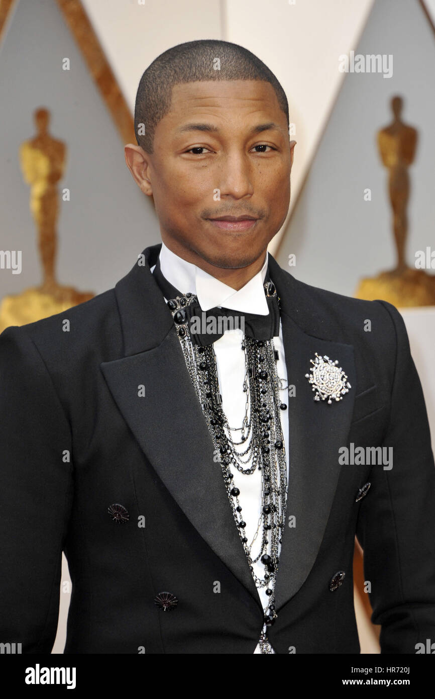 Hollywood, Kalifornien. 26. Februar 2017. Pharrell Williams besucht die 89. Oscar-Verleihung in Hollywood & Highland Stockfoto
