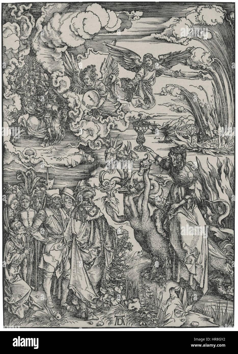Frau von Babylon durch Dürer Stockbild