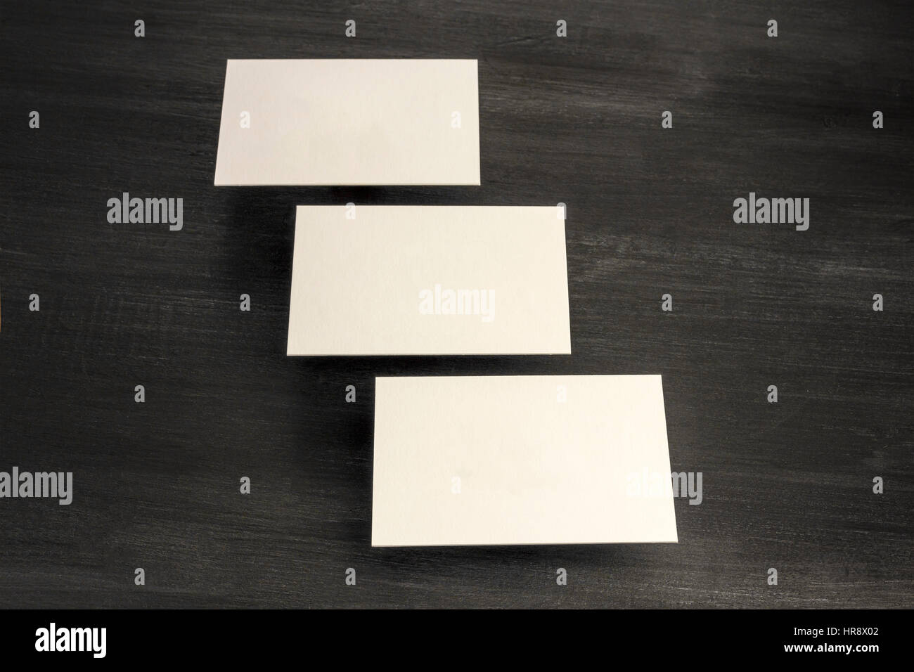 Ein Foto Von Leeren Weißen Dicken Karton Visitenkarten