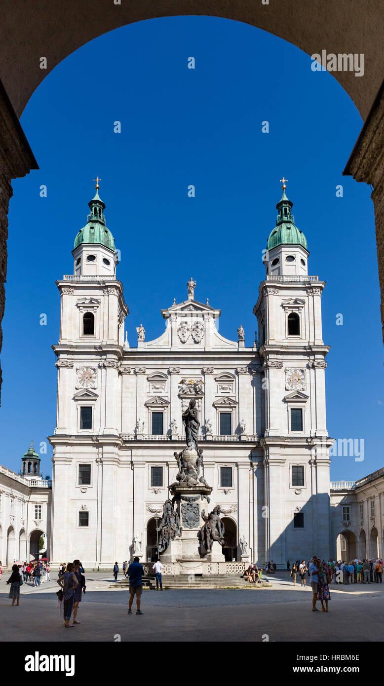 Salzburger Dom, Domplatz, Salzburg, Österreich Stockbild