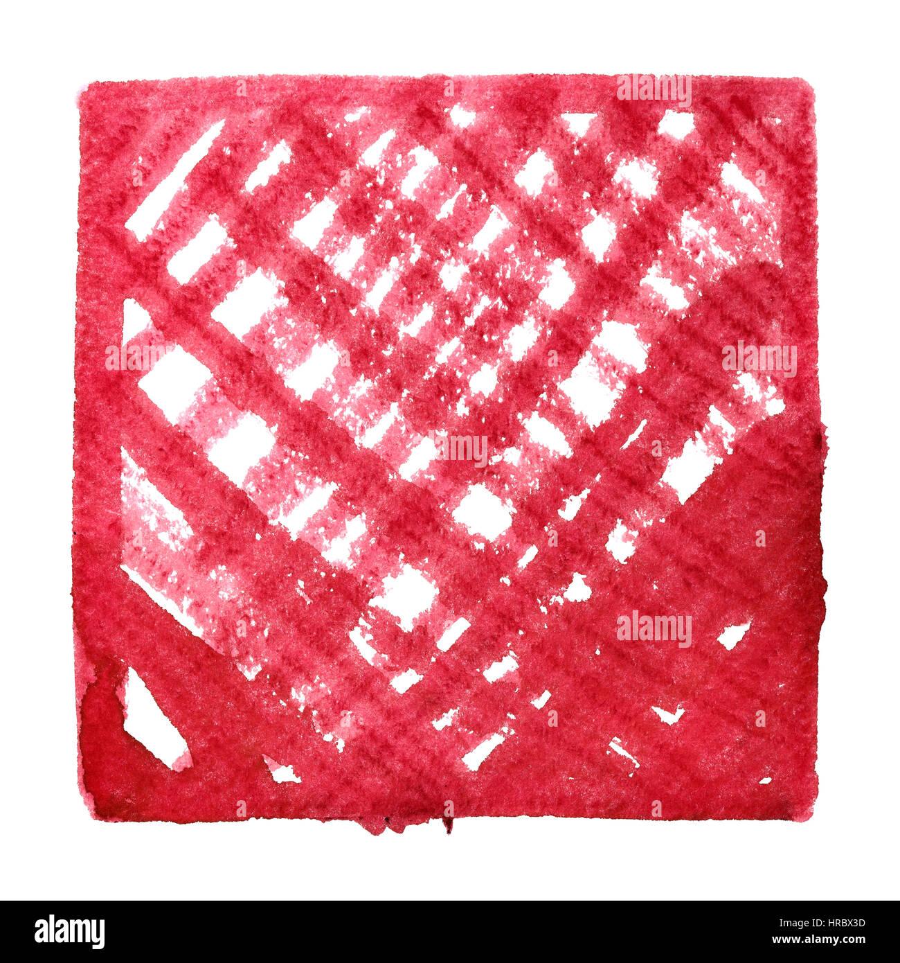 Roter Rahmen mit Doodle Strichen. Zusammenfassung Hintergrund. Platz ...
