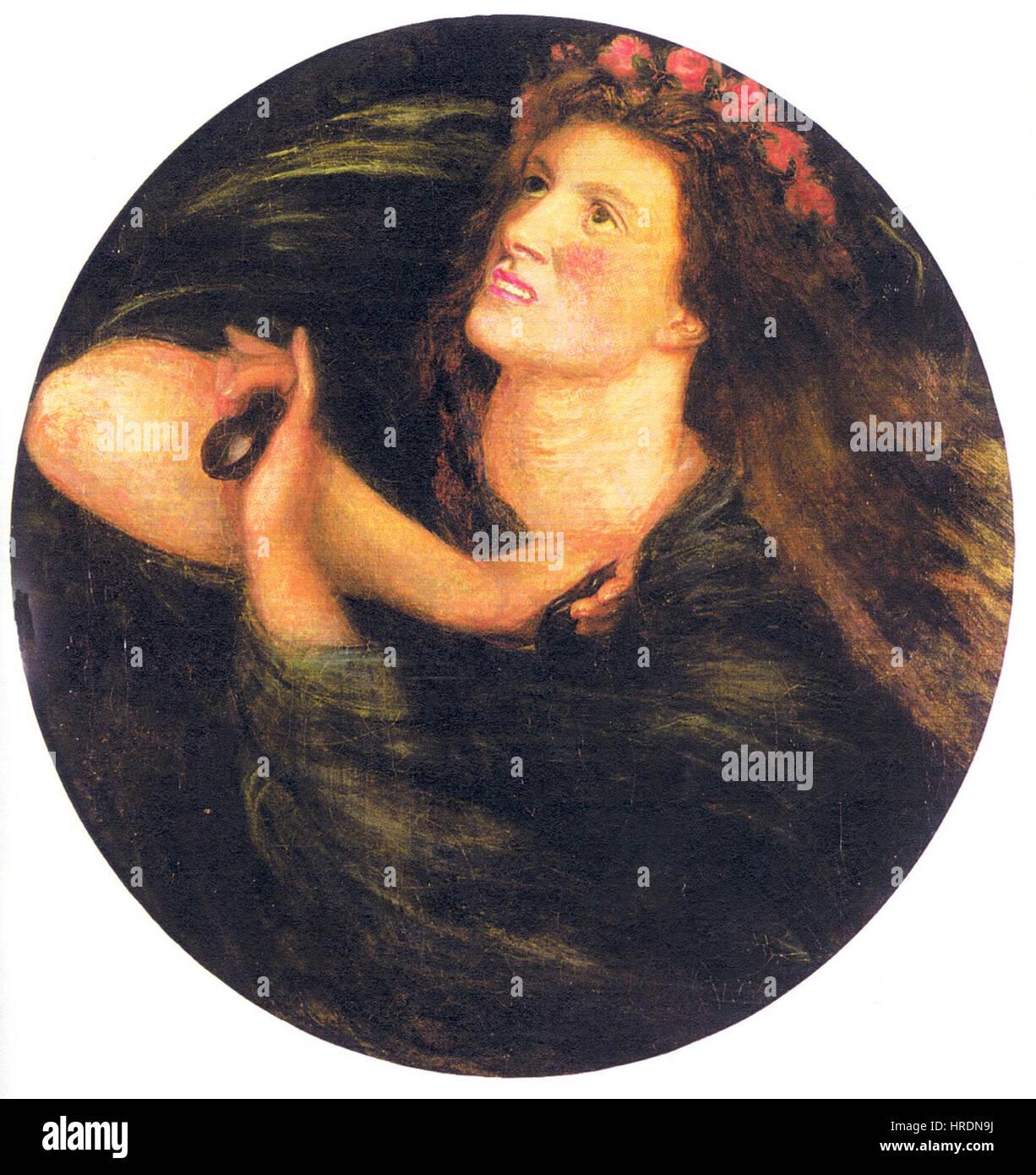 Dante Gabriel Rossetti - La Castagnetta Stockfoto