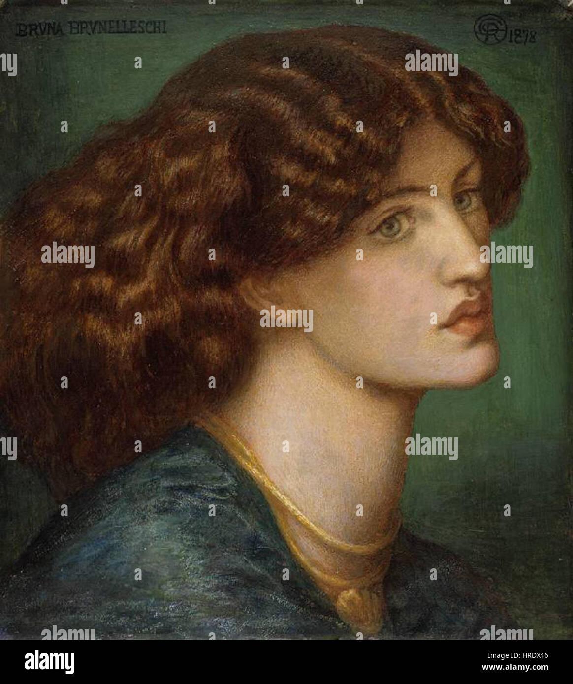 Dante Gabriel Rossetti - Bruna Brunelleschi Stockfoto