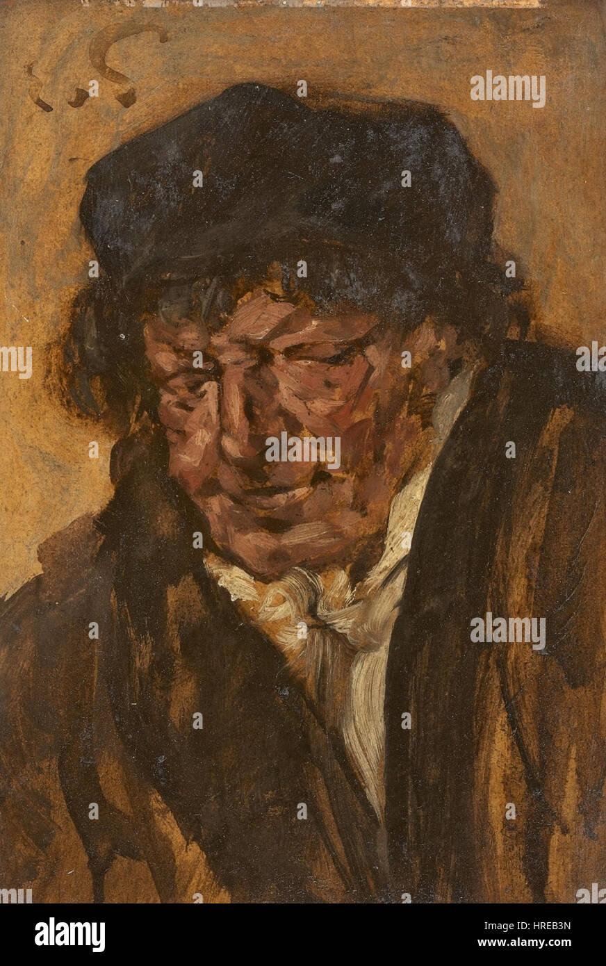 Eduard von Gebhardt Bildnis Eines Mannes Mit Barett Stockfoto