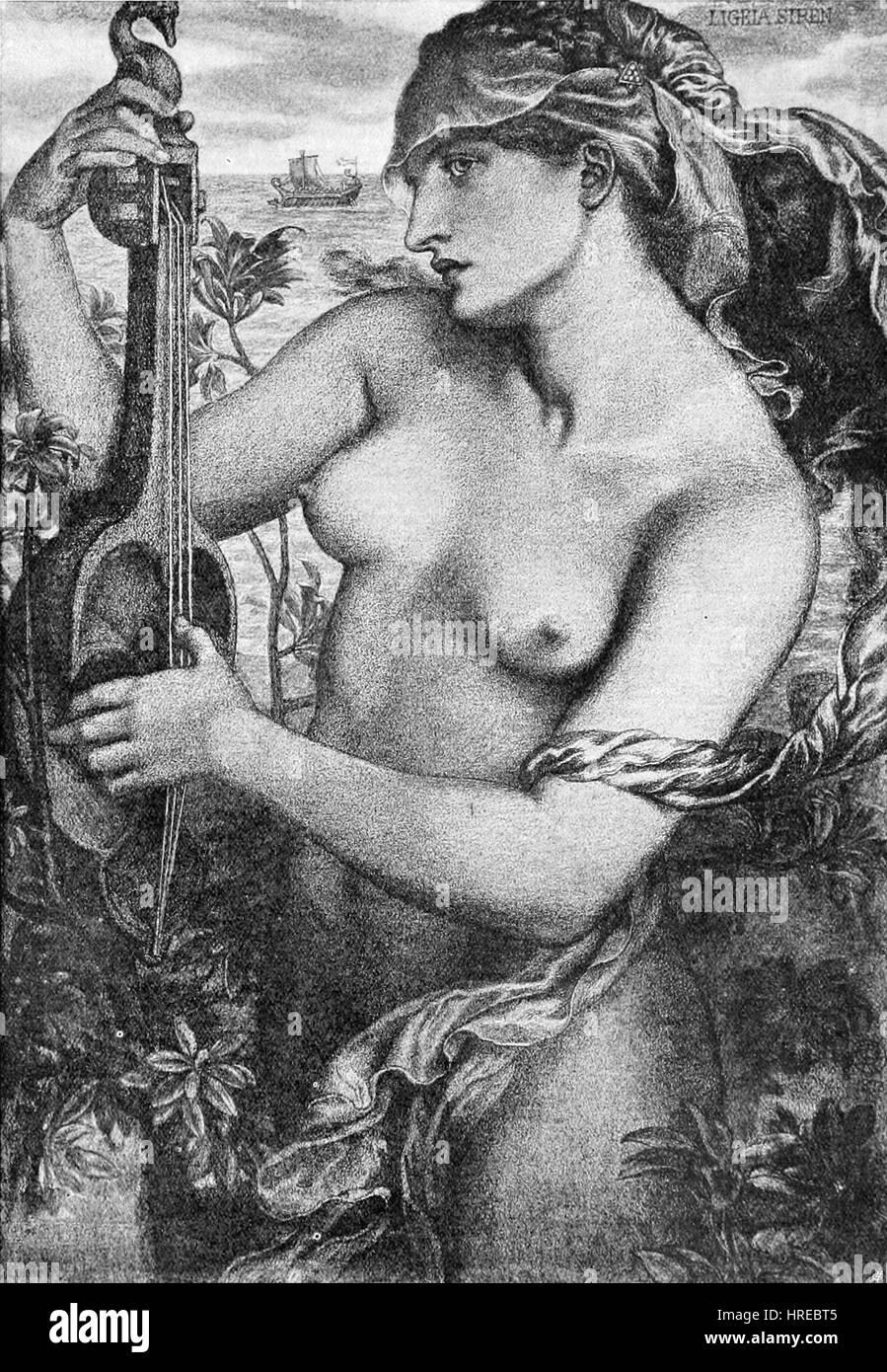 Dante Gabriel Rossetti - Ligeia Sirene Stockfoto