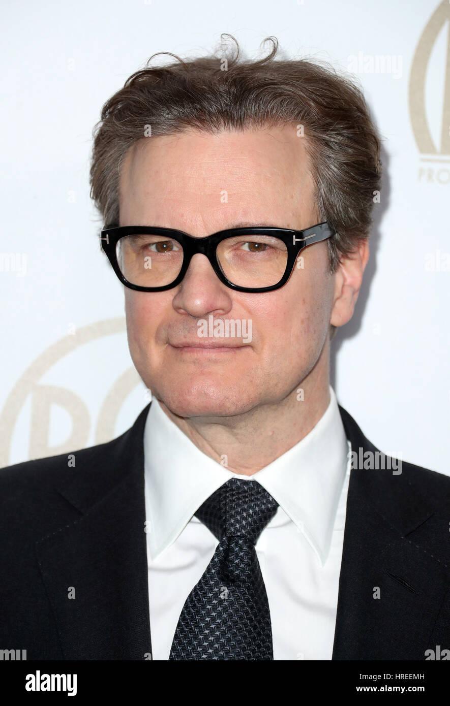 28. jährlichen Hersteller Guild Awards im Beverly Hilton Hotel - Anreise mit: Colin Firth wo: Beverly Hills, Stockbild