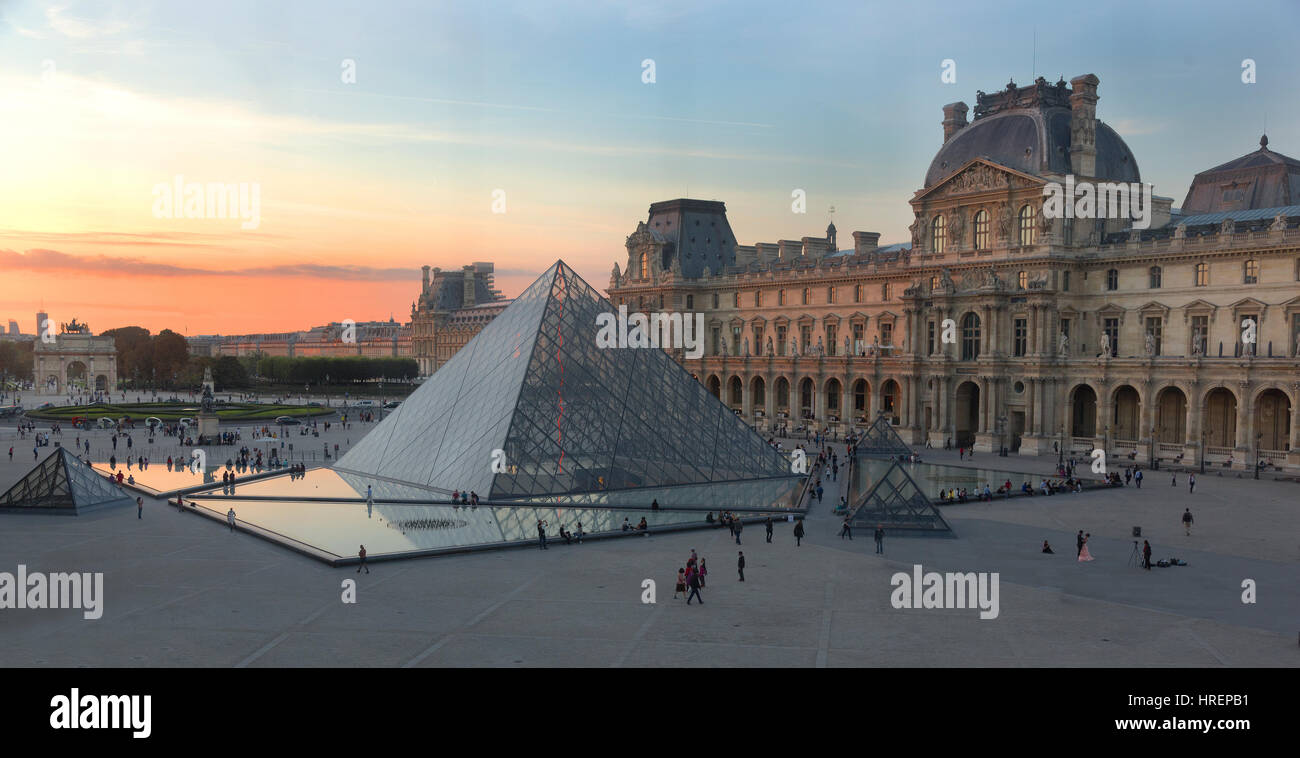 Louvre, Paris, Frankreich Stockbild