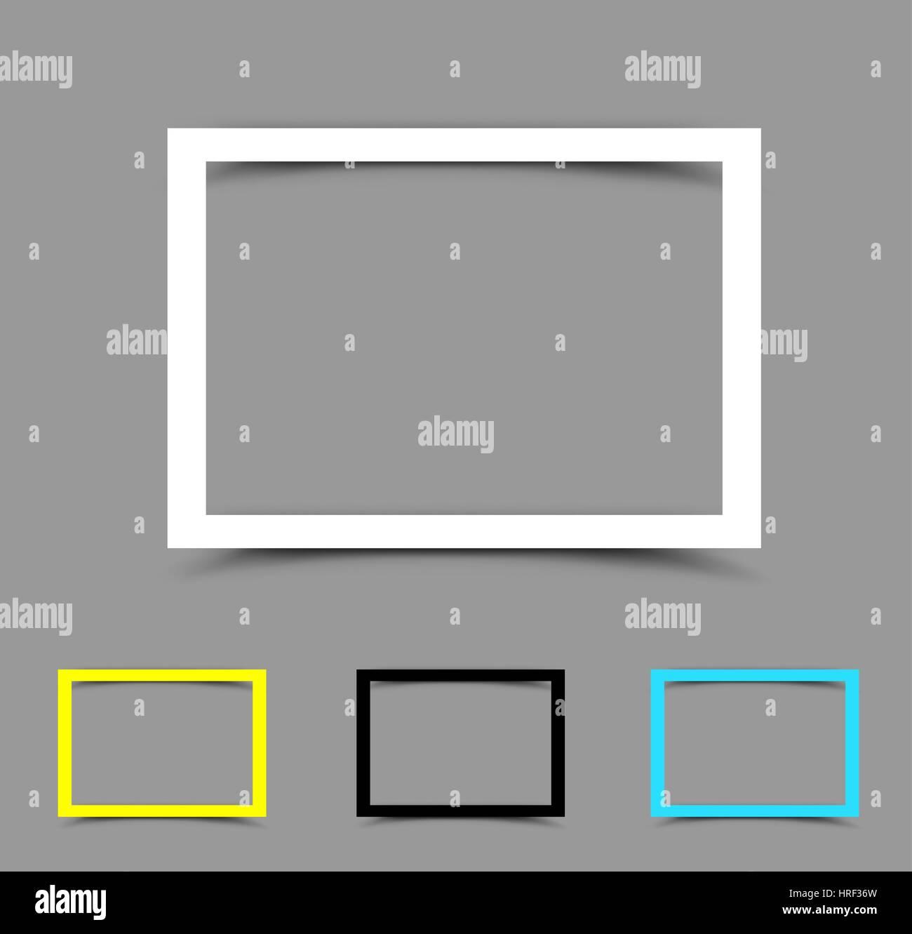 A4 Papier Rahmen horizontal Vektor Abbildung - Bild: 134941489 - Alamy