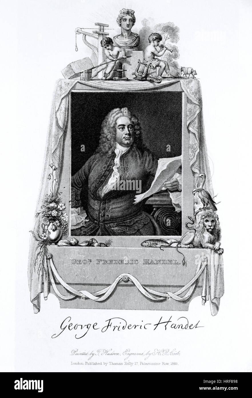 George Händel, deutscher Barockkomponist Stockbild