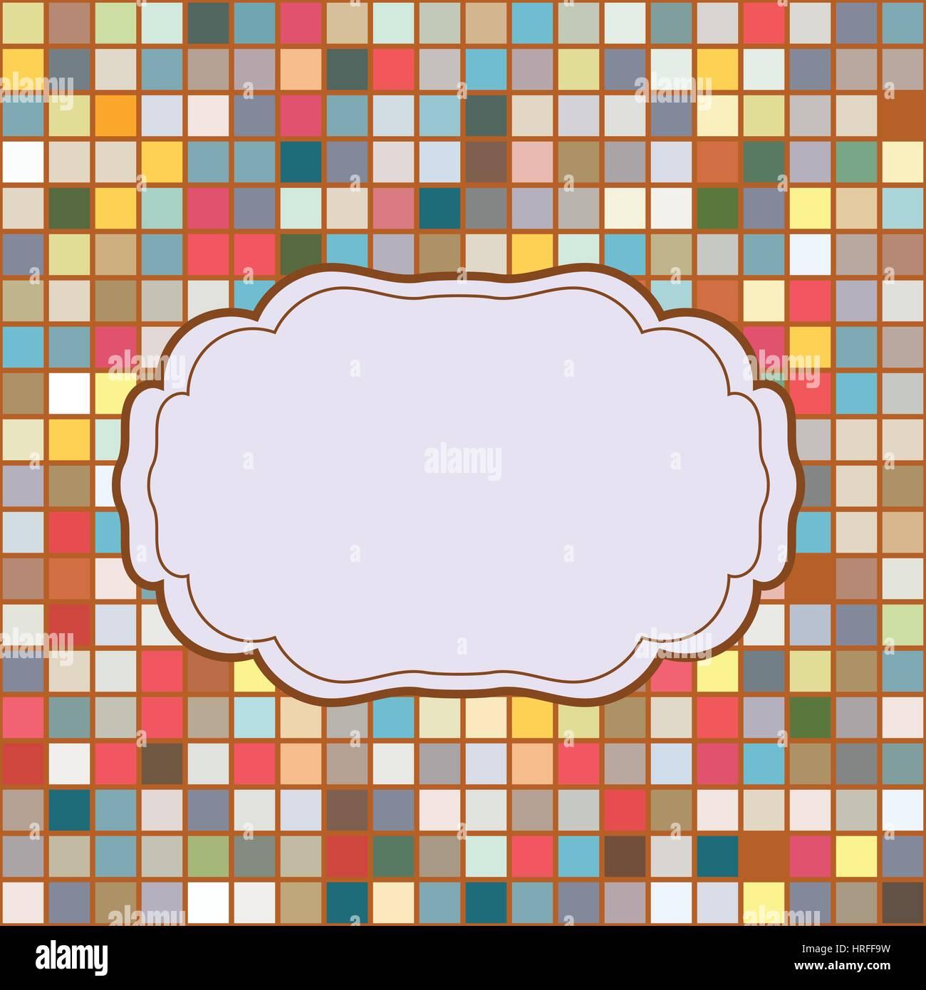 Mosaik Rahmen Platz für Text Einladung Vektor Abbildung - Bild ...