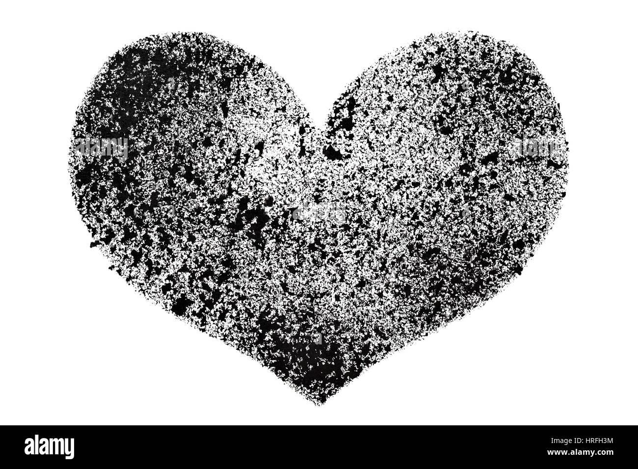 Schwarze Schablone Herz isoliert auf weißem Hintergrund - Raster ...