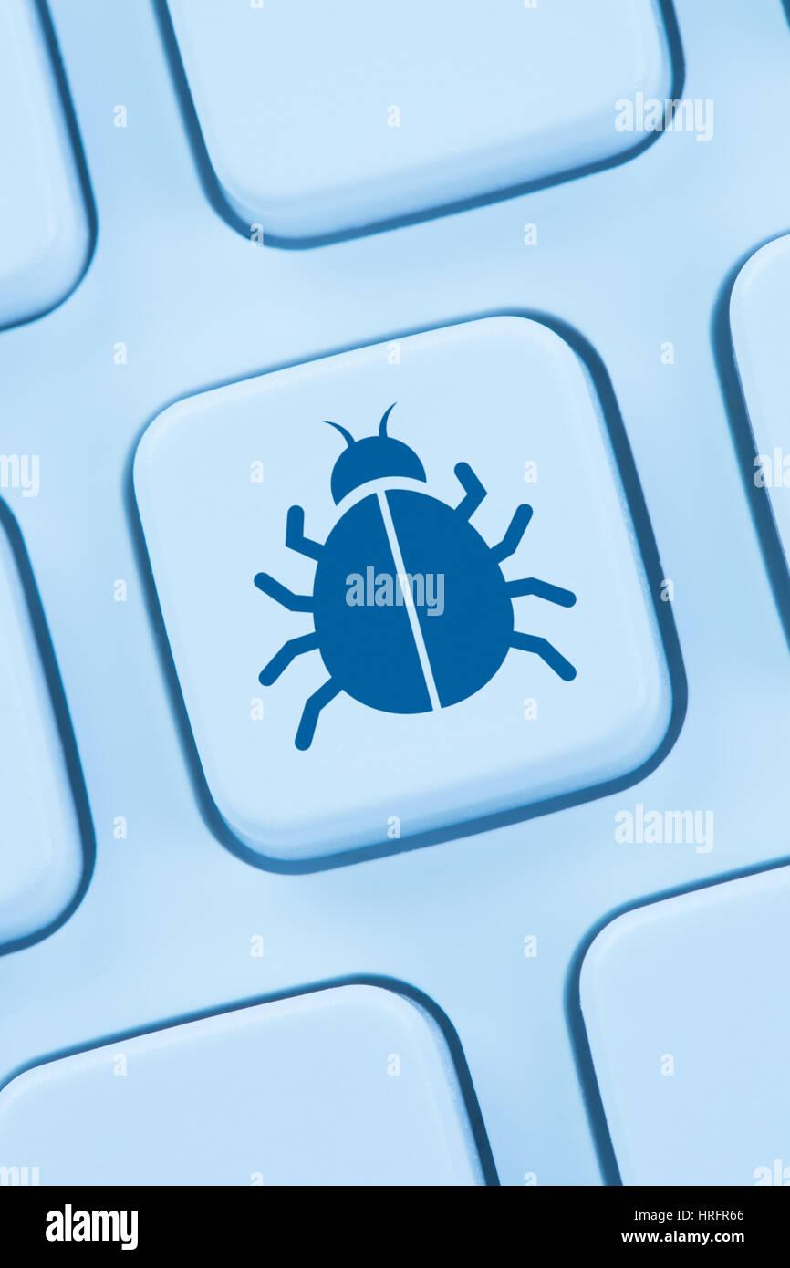 Computer virus Software Netzwerk online Sicherheit internet web Stockbild