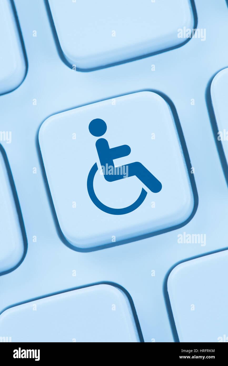 Web Accessibility online Internet Web site Design computer Menschen Behinderungen Tastatur Stockbild