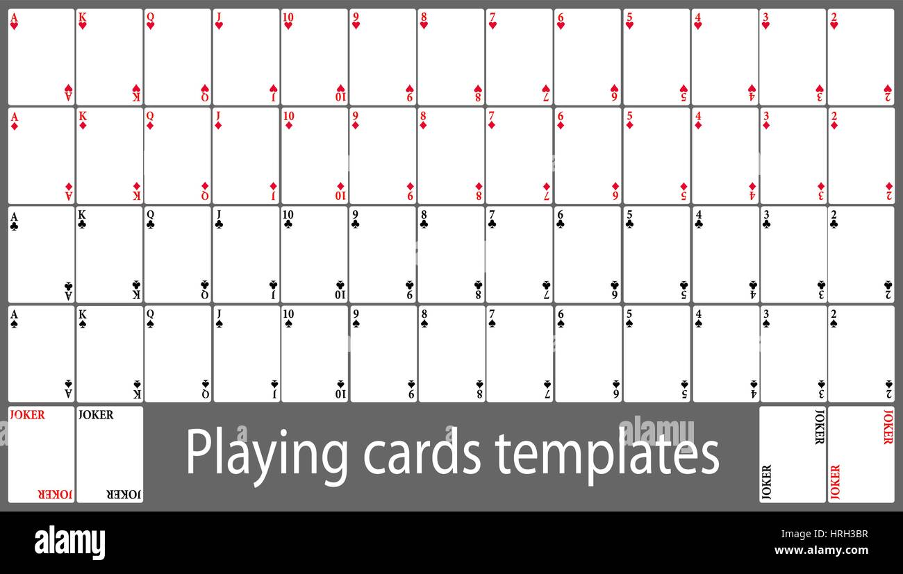Karten Vector Illustration Poker Spielkarten 9