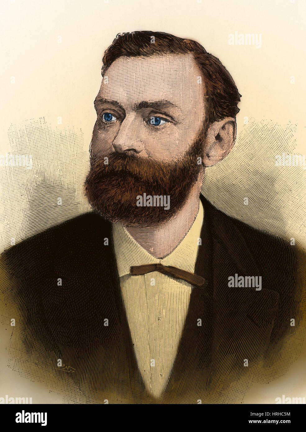Alfred Nobel, schwedischer Chemiker und Erfinder Stockbild