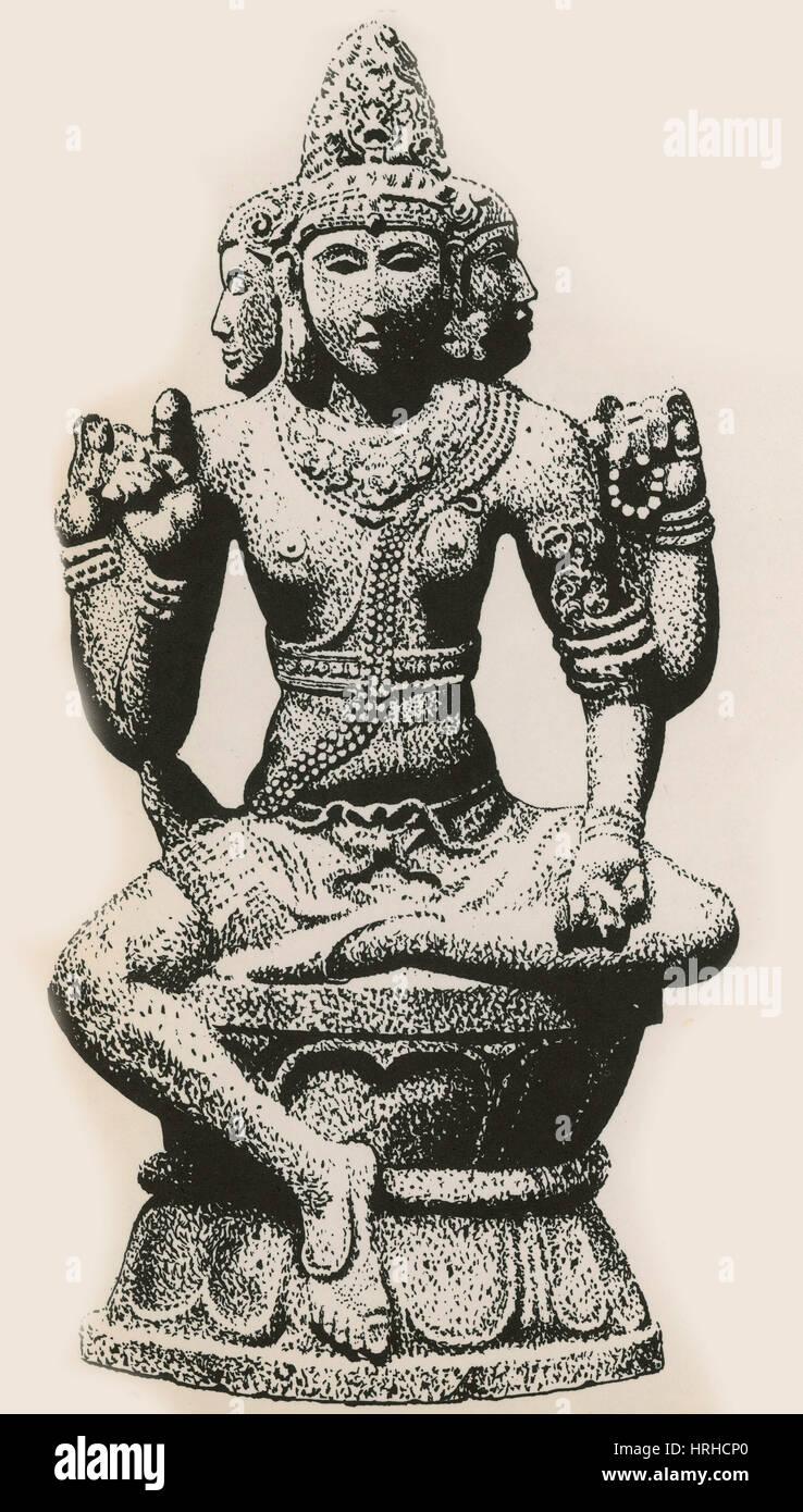 Brahma, der hinduistische Gott Stockbild