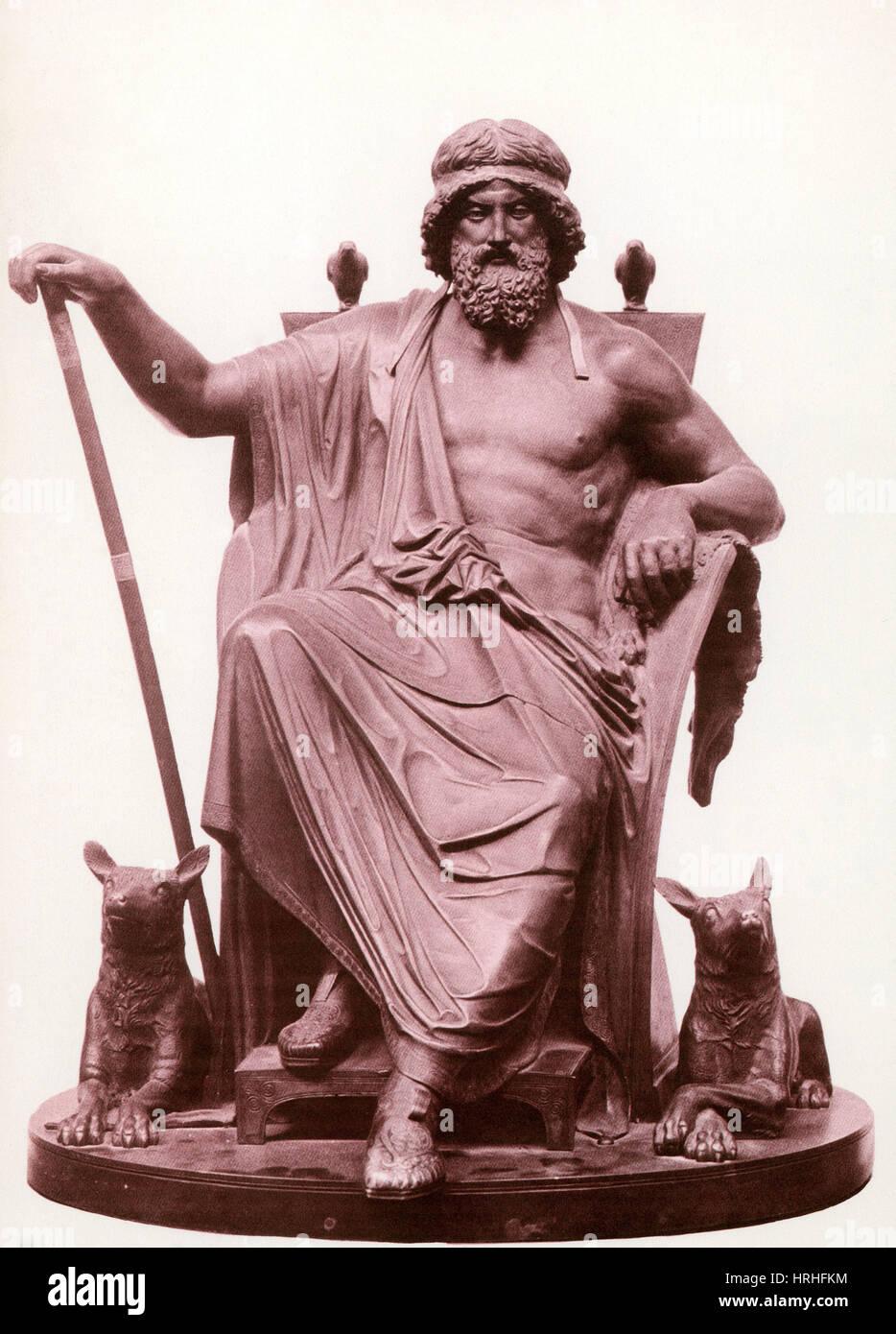 Nordische Gott Odin Stockbild