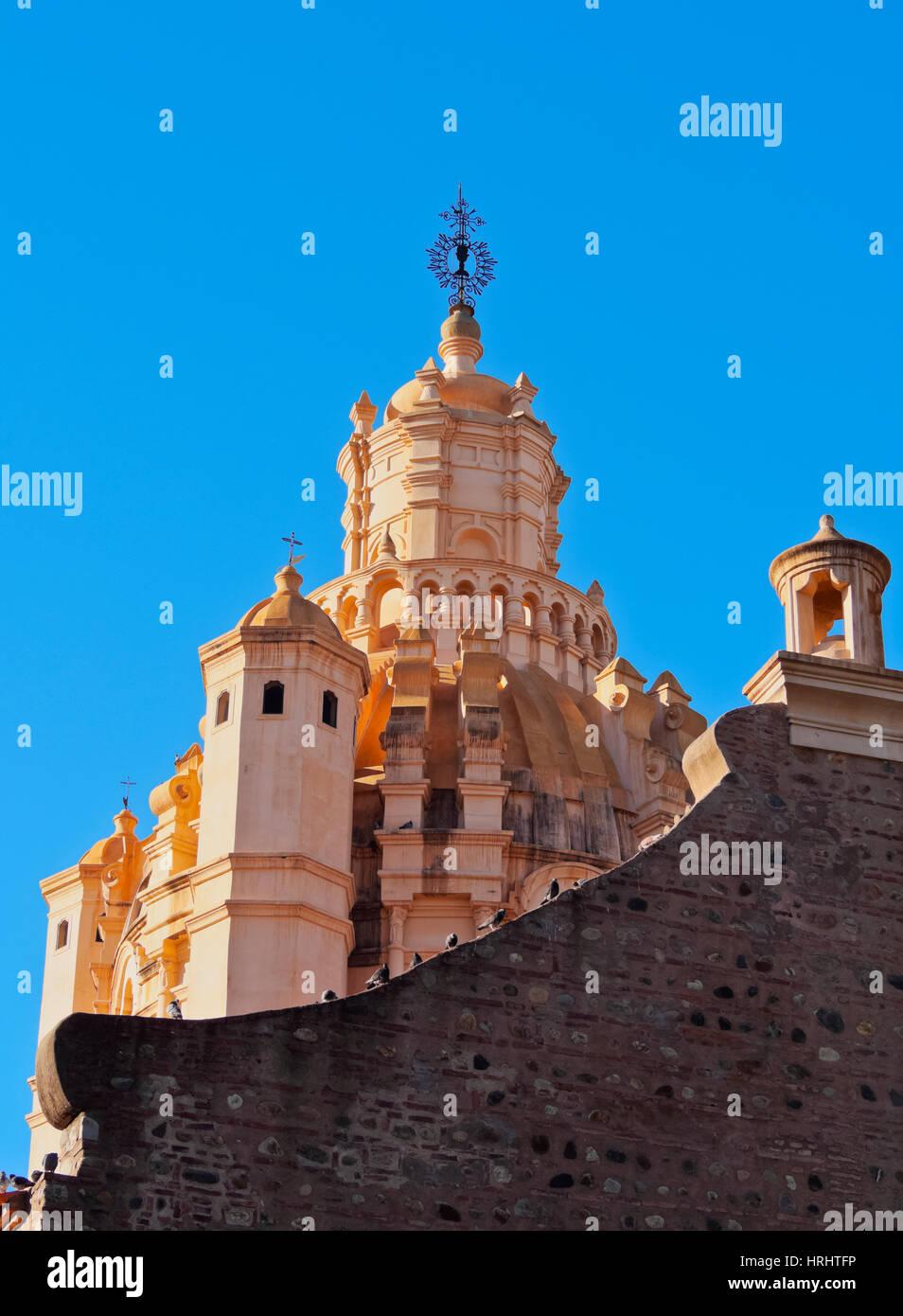 Detaillierte Ansicht der Kathedrale von Cordoba, Cordoba, Argentinien Stockbild