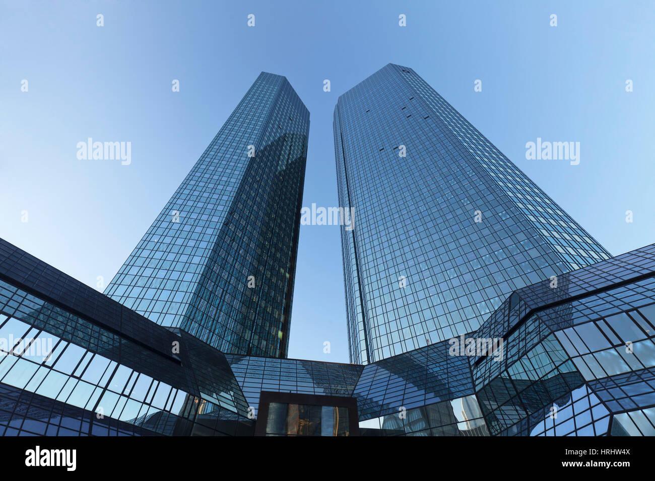 Deutsche Bank Hochhaus, Frankfurt am Main, Hessen, Deutschland Stockbild