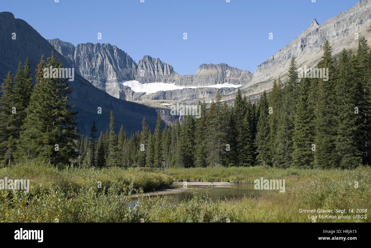 Grinnell Gletscher, Glacier NP, 2008 Stockbild
