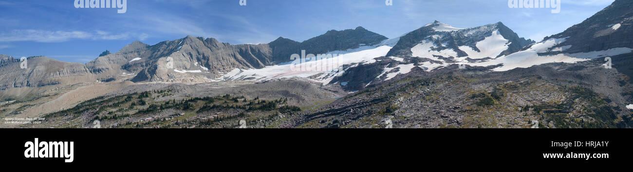 Sperry Gletscher, Glacier NP, 2008 Stockbild