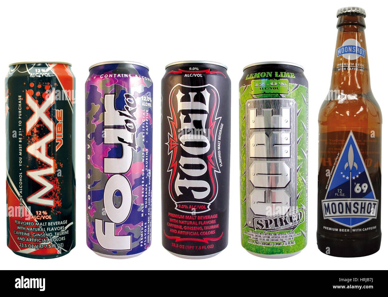 Koffeinhaltige Getränke (Kabinen Stockfoto, Bild: 135013638 - Alamy