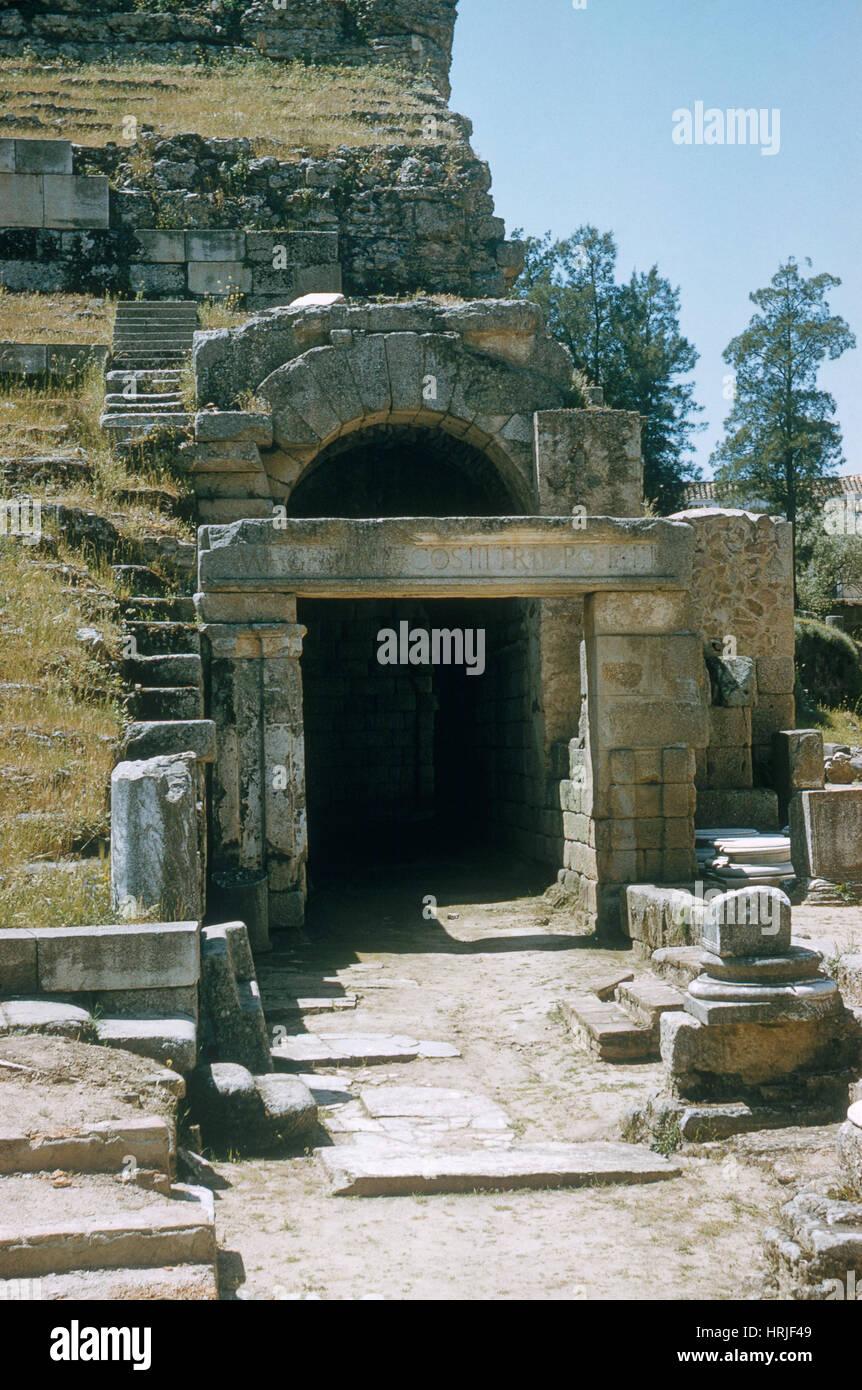 Antike römische Theater Stockbild