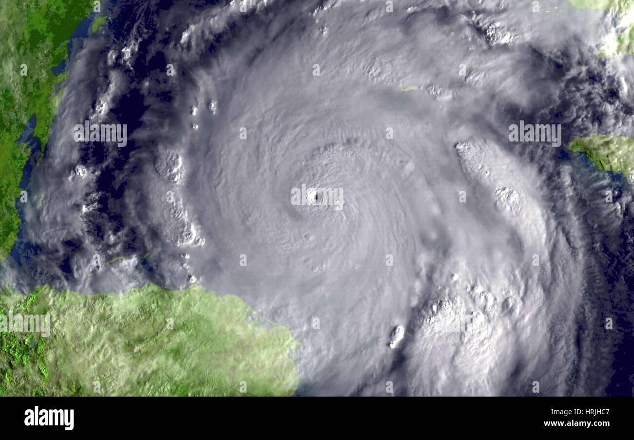 Hurrikan Wilma, 2005 Stockbild