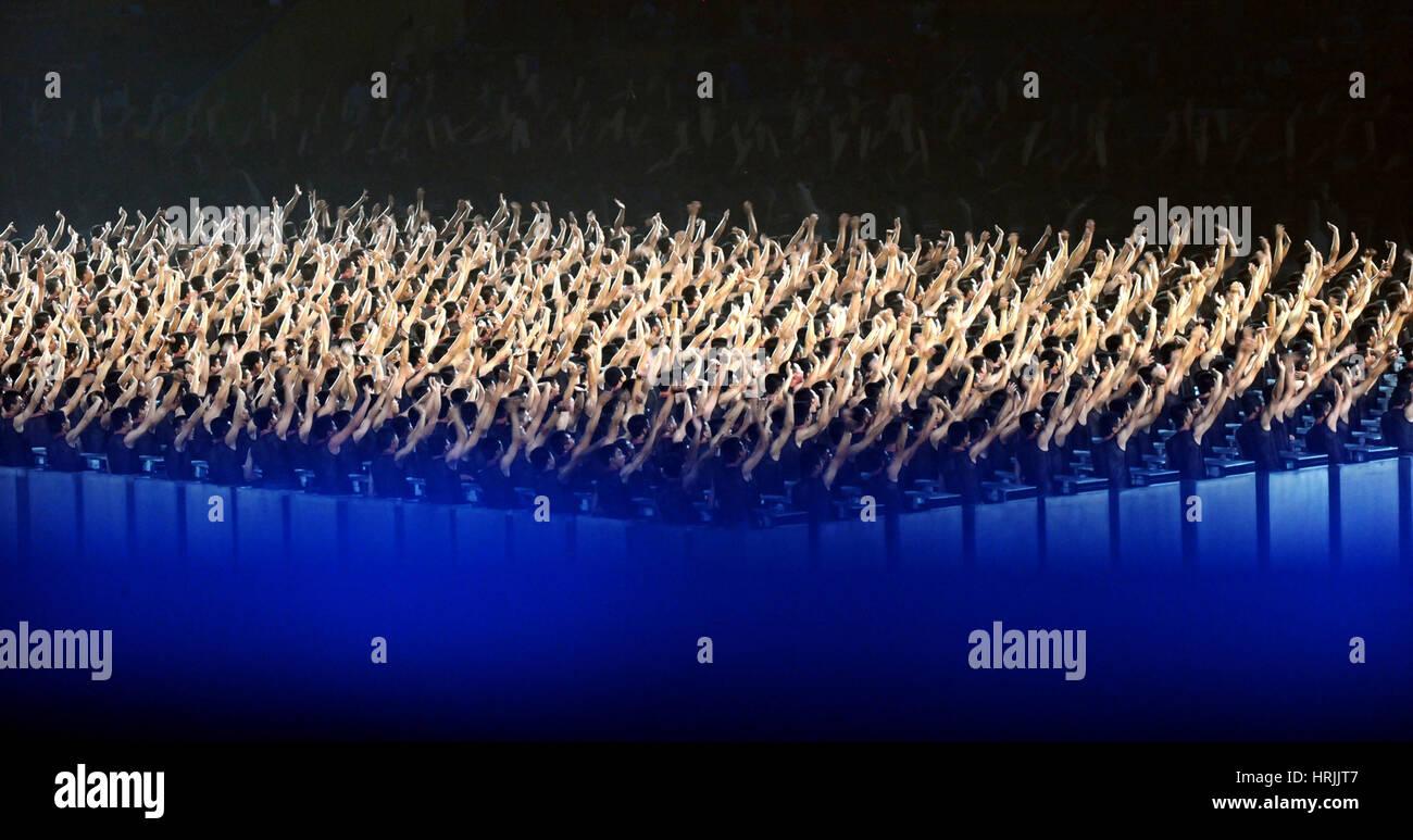 Eröffnung Zeremonie, 29. Olympische Spiele, Peking, 2008 Stockbild