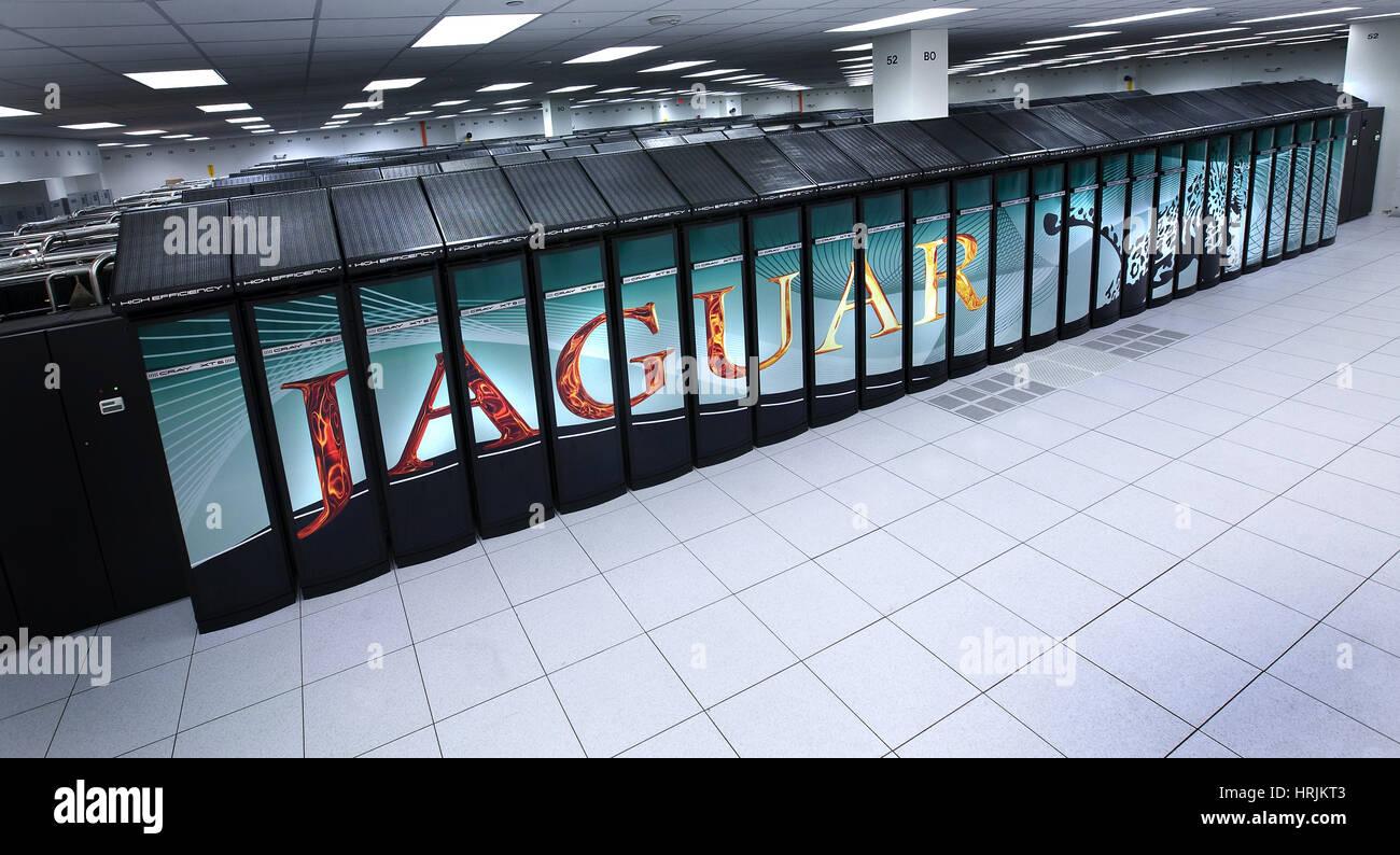 JAGUAR-Supercomputer, ORNL, 2008 Stockbild