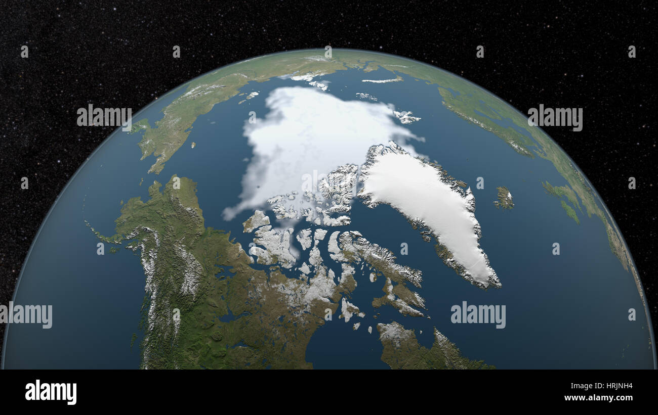 Minimum Polarfront, 2008 Stockbild