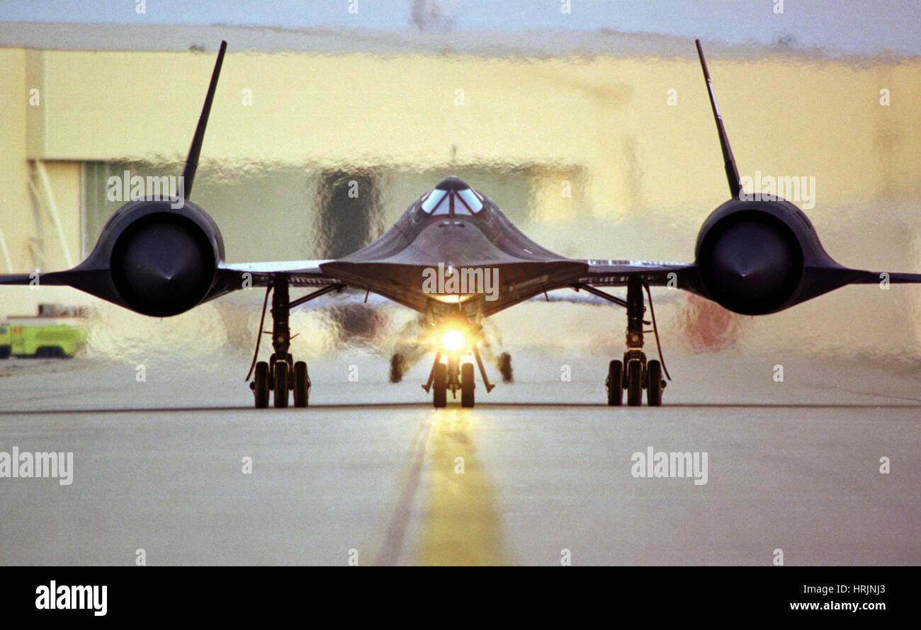 SR-71 Blackbird, 1990er Jahre Stockbild