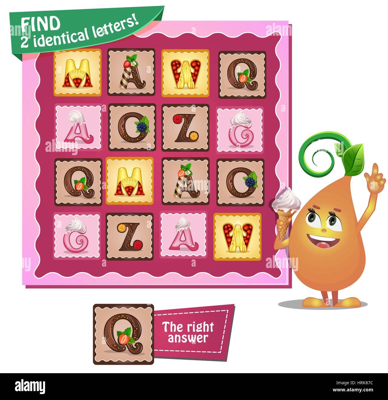 Visuelle Spiel für Kinder. Aufgabe: ermitteln Sie zwei identische ...