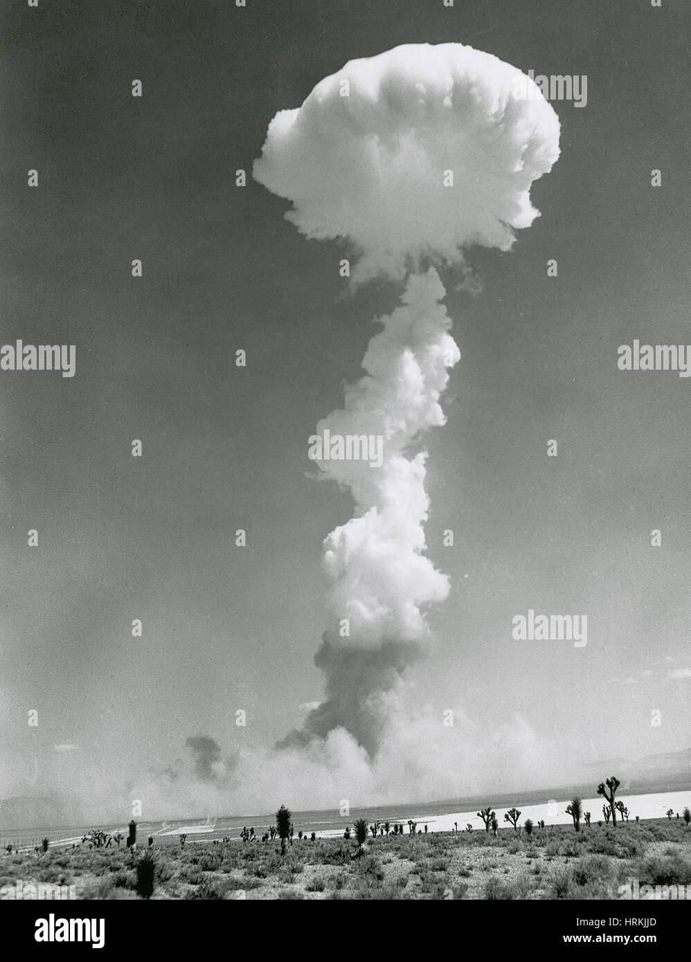 Erste im Fernsehen übertragene atomare Sprengung, 1952 Stockfoto